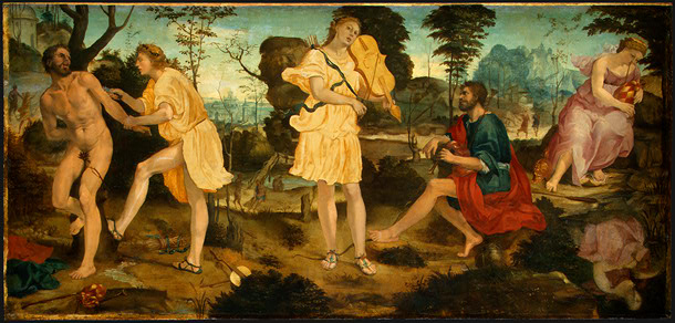 zampogna, Marsia e Apollo